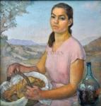 Mujer con Canasto